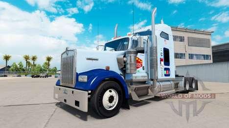 La piel de la UNC Tarheel en el camión Kenworth  para American Truck Simulator