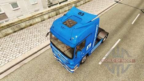 Volkswerft Stralsund skin for camión Mercedes-Be para Euro Truck Simulator 2