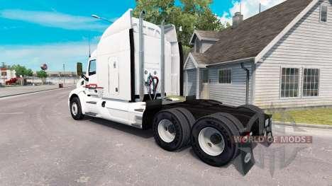 La piel de P. A. M. en el tractor Peterbilt para American Truck Simulator