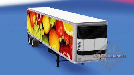 La piel de las Frutas Frescas de la semirremolqu para American Truck Simulator