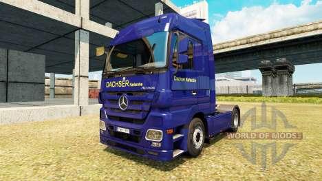 Скин Dachser Karlsruhe v2.1 на Mercedes-Benz para Euro Truck Simulator 2