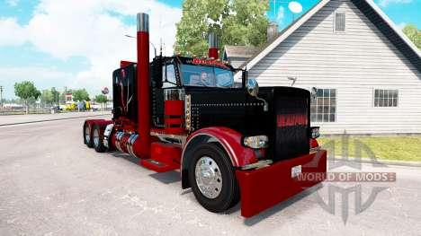 Deadpool de la piel para el camión Peterbilt 389 para American Truck Simulator