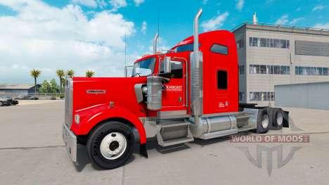 Скин Caballero de Transporte на Kenworth W900 para American Truck Simulator