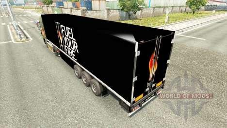Una colección de skins para remolques para Euro Truck Simulator 2