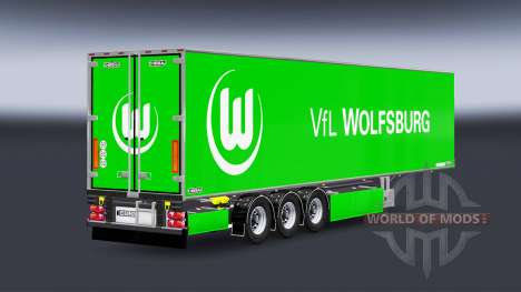 Semi-Remolque Chereau, VfL Wolfsburg para Euro Truck Simulator 2