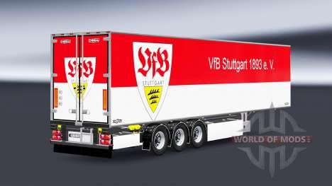 Semi-Remolque Chereau, VfB Stuttgart para Euro Truck Simulator 2