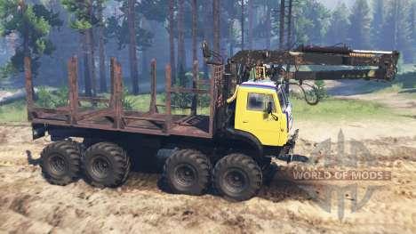 KamAZ-5322 8x8 para Spin Tires