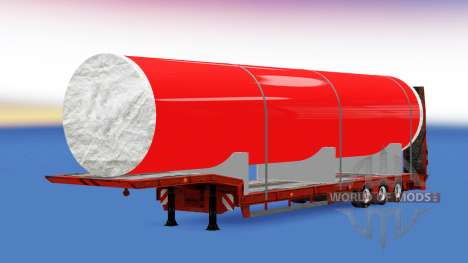 Baja barrido con un gran tubo de metal para American Truck Simulator