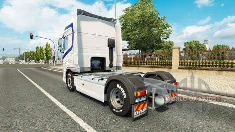 KSF Transporte skin for DAF truck para Euro Truck Simulator 2