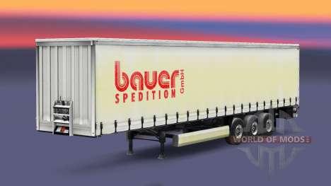 La piel Bauer Spedition GmbH en el remolque para Euro Truck Simulator 2