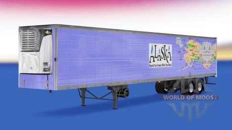 La piel de Alaska para la semi-refrigerados para American Truck Simulator