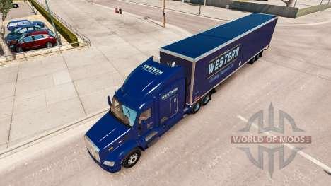 Occidental de la piel para el camión Peterbilt para American Truck Simulator