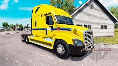 La piel en Penske camión Freightliner Cascadia para American Truck Simulator