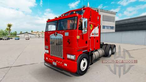 La Scuderia Ferrari en la piel para Kenworth K10 para American Truck Simulator
