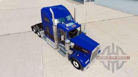 Piel Negro Y Azul Vintage tractor en Kenworth W9 para American Truck Simulator