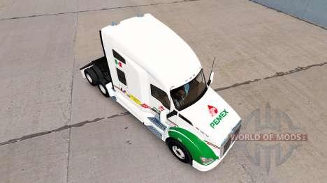 La piel de Pemex en un Kenworth tractor para American Truck Simulator