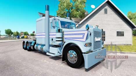 Piel blanco-Azul de las franjas por el camión Pe para American Truck Simulator