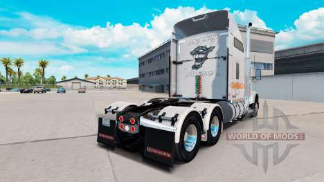 Скин Riendo Demonio Metálico на Kenworth T800 para American Truck Simulator