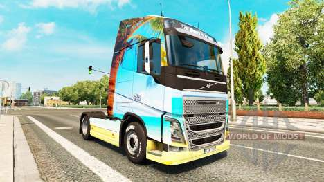 La naturaleza de la piel para camiones Volvo para Euro Truck Simulator 2