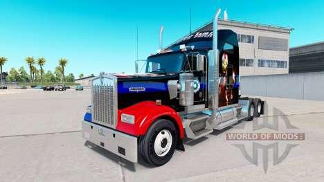 La piel de la Guerra Civil para el camión Kenwor para American Truck Simulator