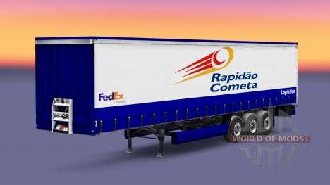 La piel Rapidao Cometa en el remolque para Euro Truck Simulator 2