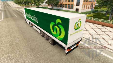 Woolworths piel para remolques para Euro Truck Simulator 2