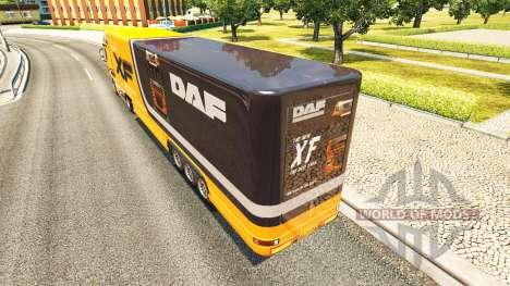 Semi-remolque frigorífico camión DAF XF para Euro Truck Simulator 2