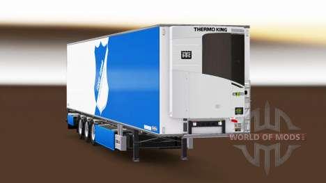 Semi remolque de la Empresa TSG 1899 Hoffenheim para Euro Truck Simulator 2