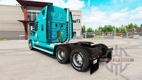 La piel TUM en el tractor Freightliner Cascadia para American Truck Simulator