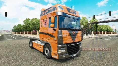 La piel de la cabeza tractora DAF XF 105.510 para Euro Truck Simulator 2