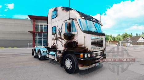 Скин Reelaborado Dalmatin на Freightliner Argosy para American Truck Simulator