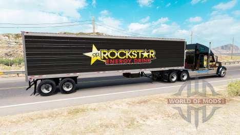 La piel Rockstar Energy para la semi-refrigerado para American Truck Simulator