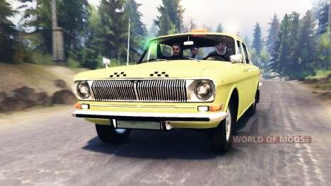 GAZ-24 Volga Taxi para Spin Tires