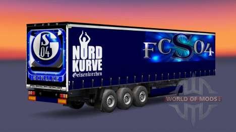 La piel FC Schalke 04 en semi-remolque para Euro Truck Simulator 2