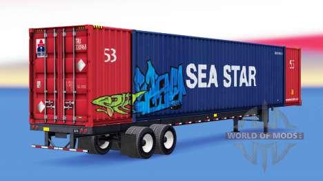Una colección de los remolques de carga v1.1 para American Truck Simulator
