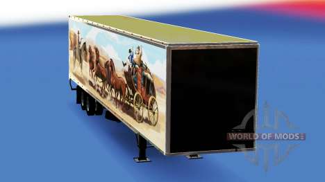 De metal semi-remolque de La Bandit para American Truck Simulator