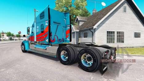 La piel en el camión Freightliner Coronado para American Truck Simulator