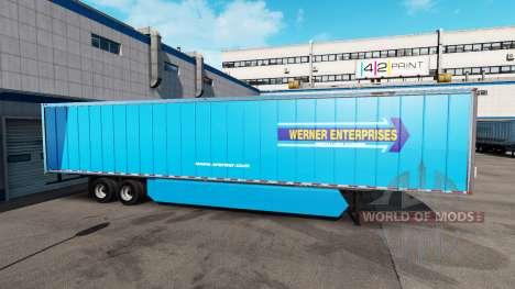 Una colección de pieles de estados UNIDOS y Cana para American Truck Simulator