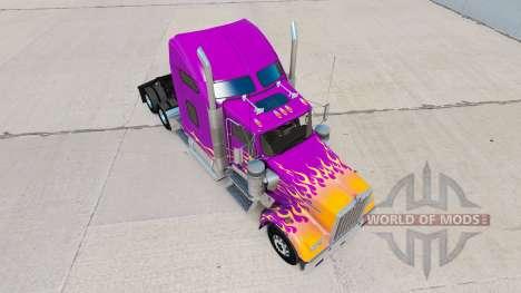 La piel de California Llamas en el camión Kenwor para American Truck Simulator
