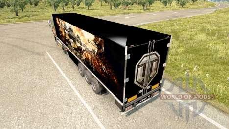 La piel de World of Tanks en el remolque para Euro Truck Simulator 2