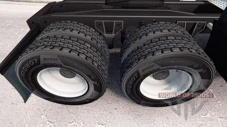 Los neumáticos Hankook v1.2 para American Truck Simulator