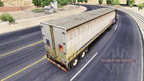 Cortina vieja semi-remolque para American Truck Simulator
