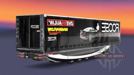 La piel de FOOSE en el remolque para Euro Truck Simulator 2