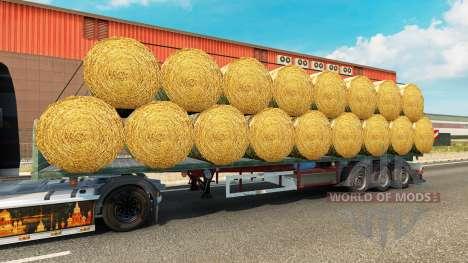 El semirremolque de plataforma con una carga de  para Euro Truck Simulator 2