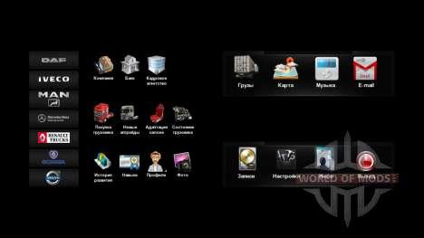 Nuevos iconos en el menú de la v4.0 para Euro Truck Simulator 2