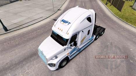 La piel de Swift en el tractor Freightliner Casc para American Truck Simulator