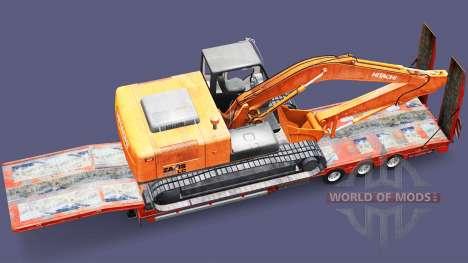 Bajo el barrido con la carga de la excavadora para Euro Truck Simulator 2