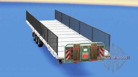 Semi-suelo con el peso del elemento puente para American Truck Simulator