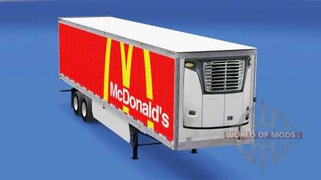La piel de McDonalds en el trailer para American Truck Simulator