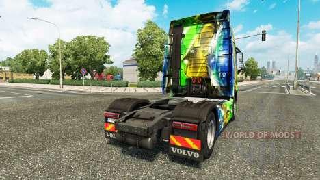 Brasil 2014 en la piel v3.0 para camiones Volvo para Euro Truck Simulator 2